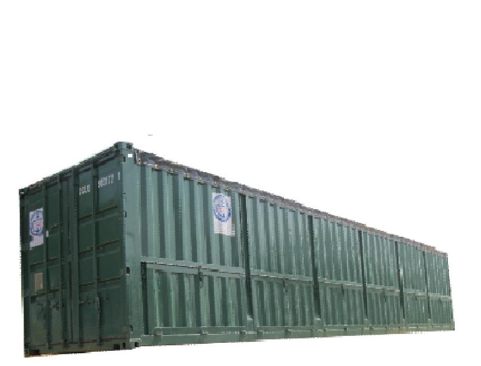 Container Open Top 40 feet mở 6 cửa nằm