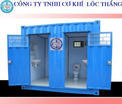 Container Tolet 10 feet 2 ngăn Hình mẫu 1