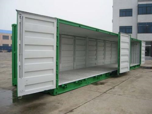 Container open side 40 feet 2 bộ cửa